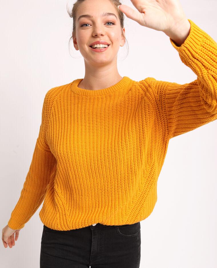 Pull in maglia spessa giallo