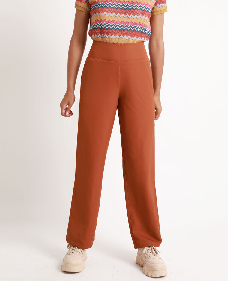 Pantalone morbido con gambe larghe marrone