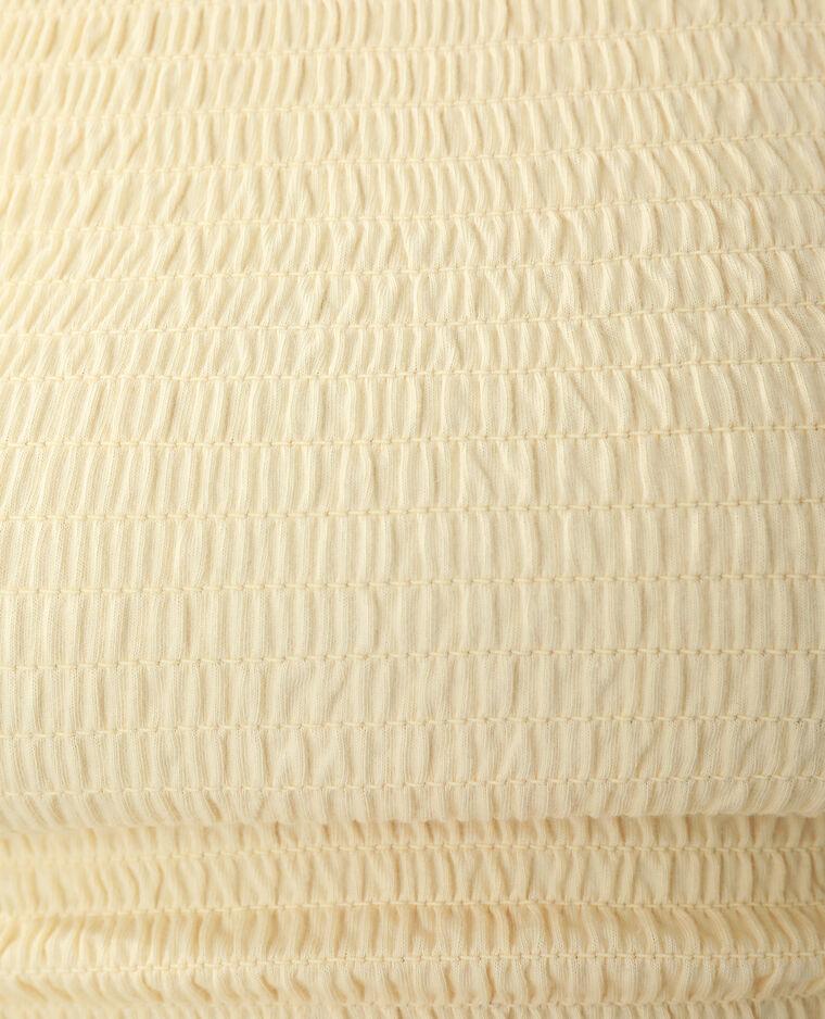 Top con smock giallo pallido - Pimkie