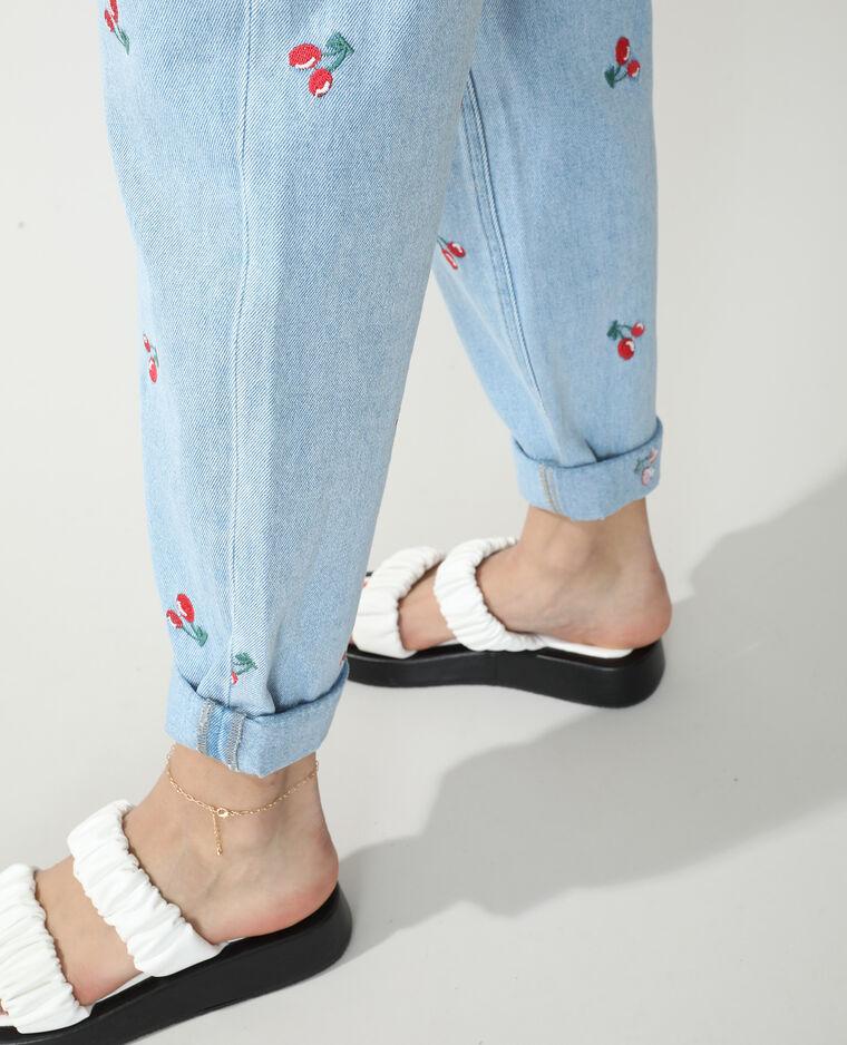 Jeans mom high waist ciliegie blu chiaro - Pimkie