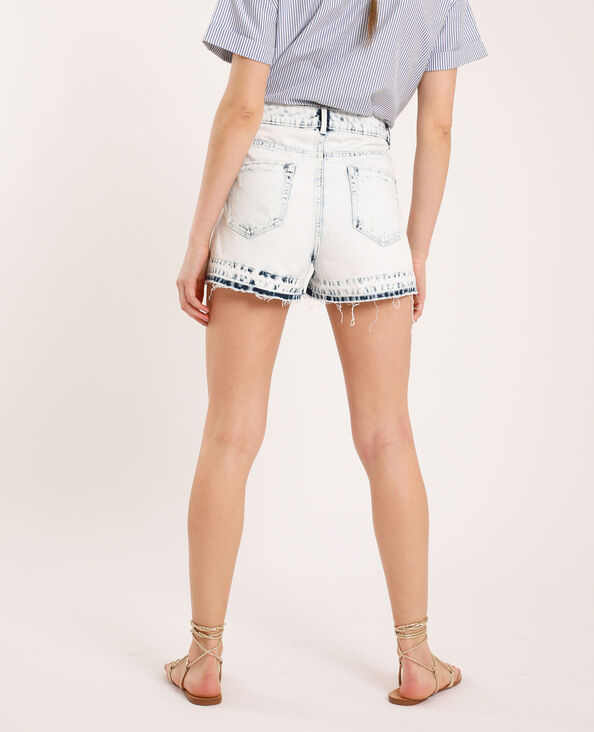 Short di jeans acid wash blu chiaro