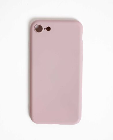 Custodia morbida compatibile con iPhone rosa