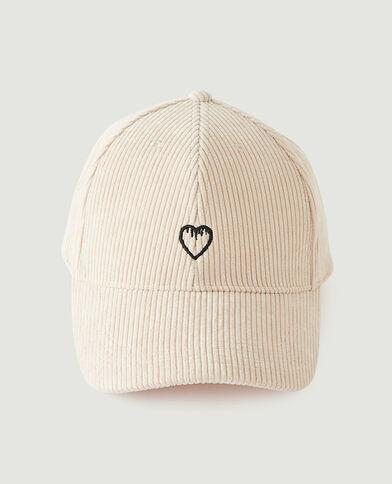 Cappellino a coste beige - Pimkie