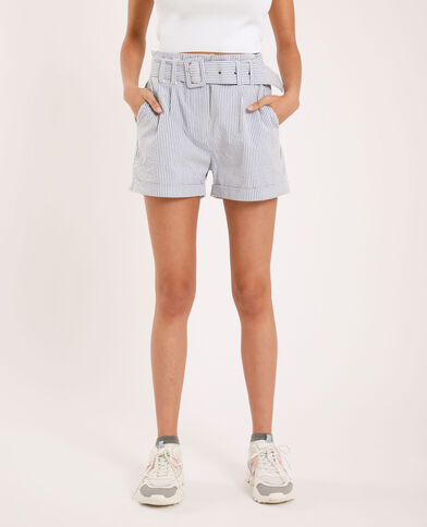 Short a righe bianco
