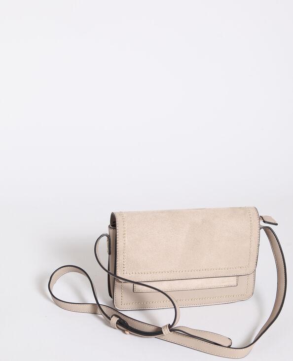 Piccola borsa in similpelle marrone