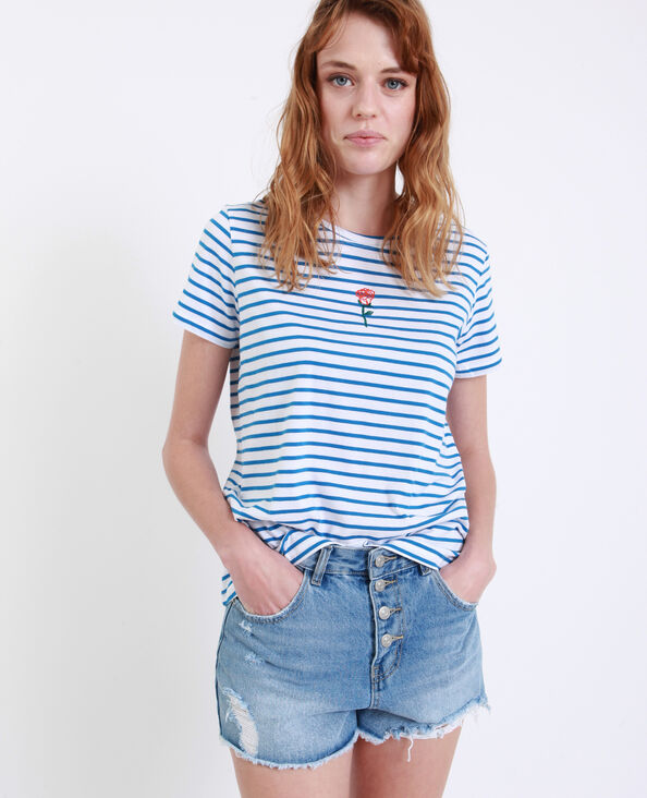 T-shirt a righe blu