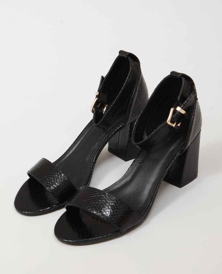 Sandali in finta pelle nero