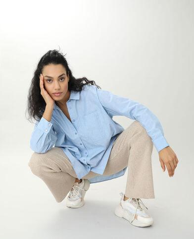 Camicia lunga blu cielo - Pimkie