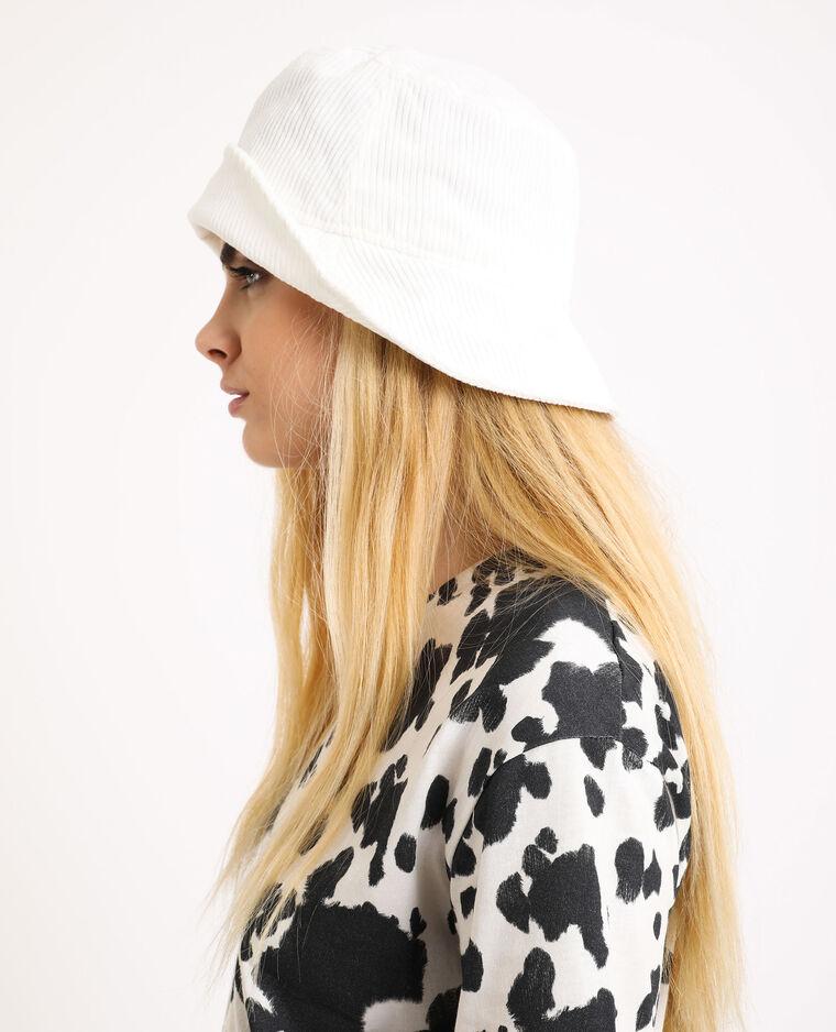 Cappello bob in velluto beige - Pimkie