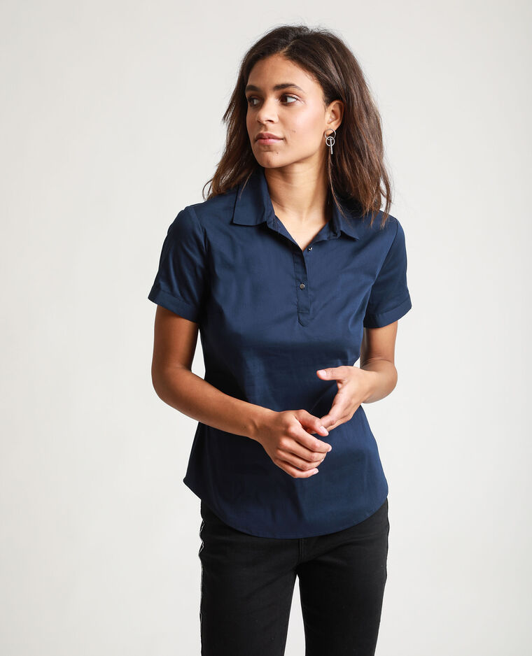Camicia maniche corte blu marino