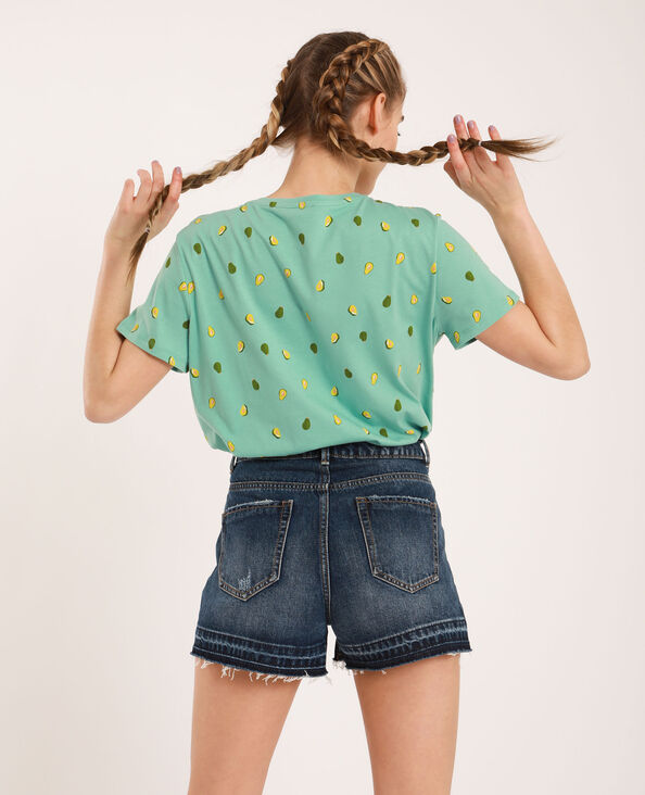 T-shirt con motivo grafico verde