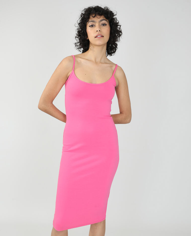 Abito lungo aderente rosa - Pimkie
