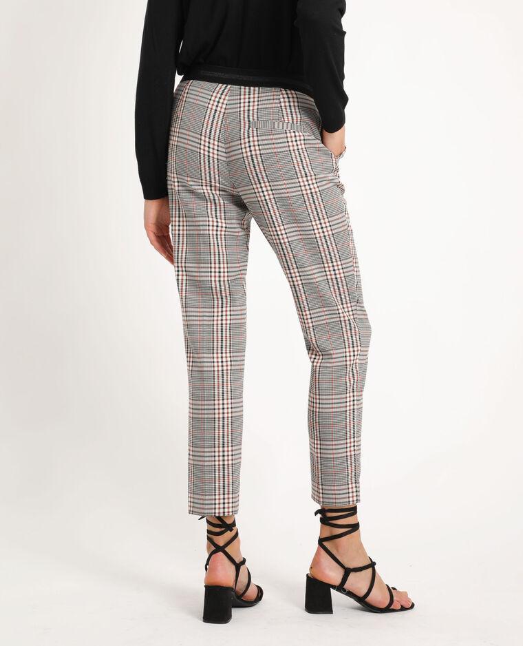 Pantalone city con occhielli marrone