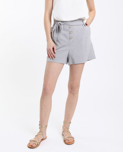 Short morbido grigio chiné