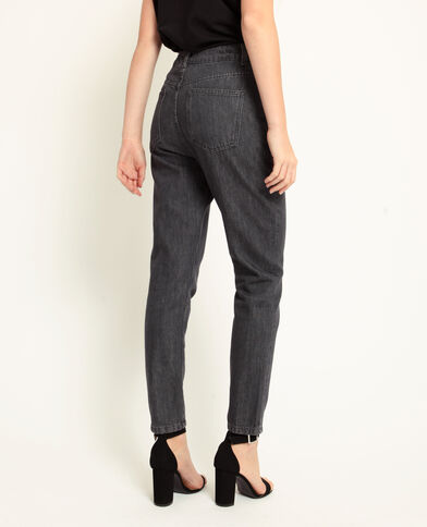Jeans mom grigio