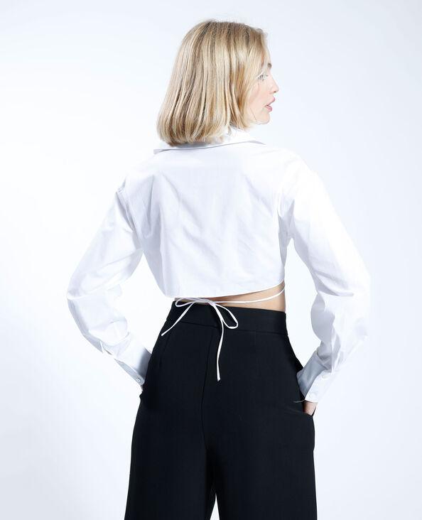 Camicia cropped effetto annodato bianco - Pimkie