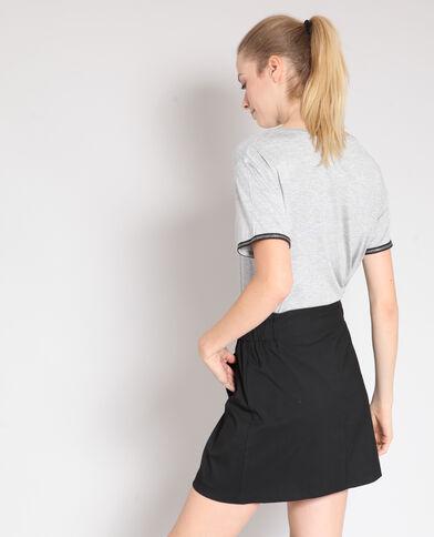 T-shirt scollo tondo grigio chiné