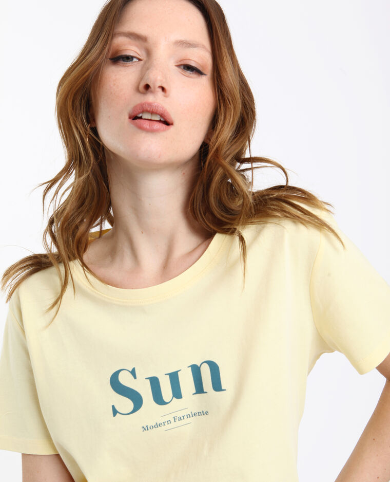 T-shirt SUN giallo chiaro