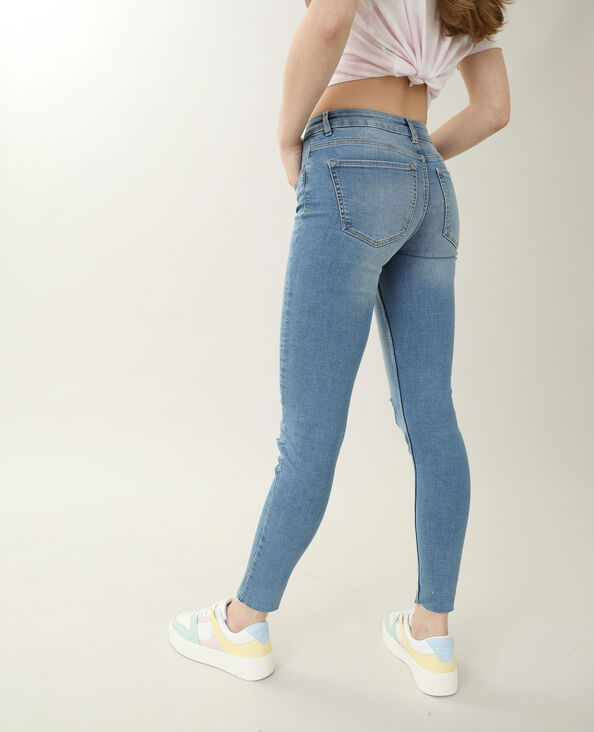 Jeans skinny high waist blu denim