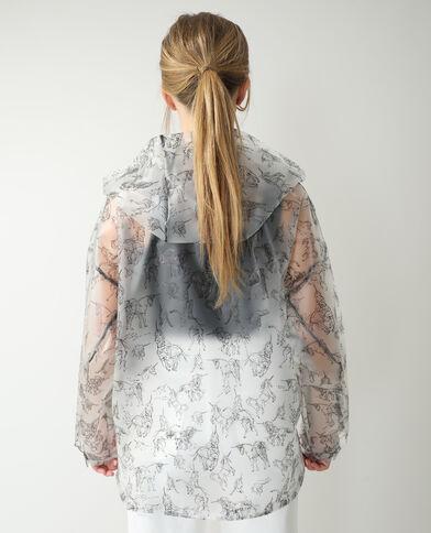 Impermeabile con cappuccio unicorni bianco - Pimkie