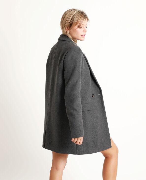 Cappotto in panno di lana grigio antracite