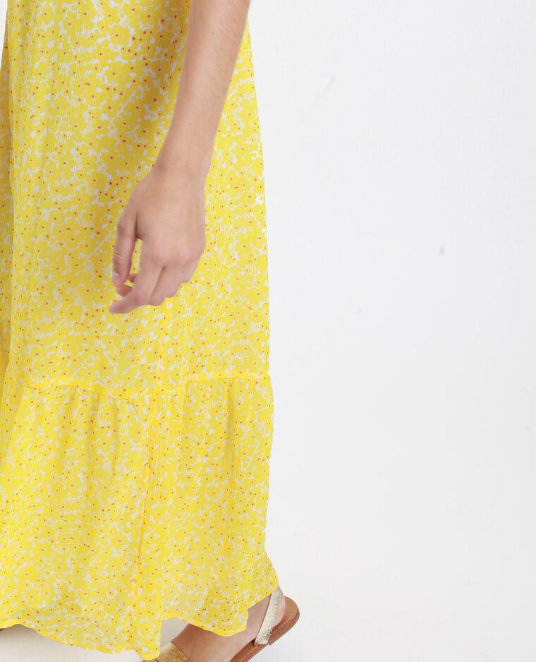 Abito lungo con spalle scoperte giallo