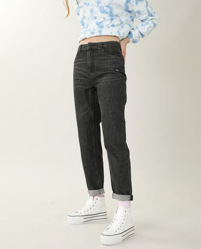 Jeans mom high waist nero