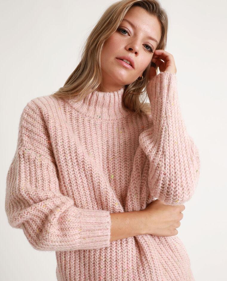Pull chiné rosa