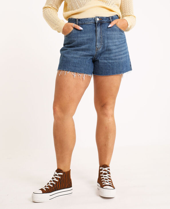 Short mom blu denim