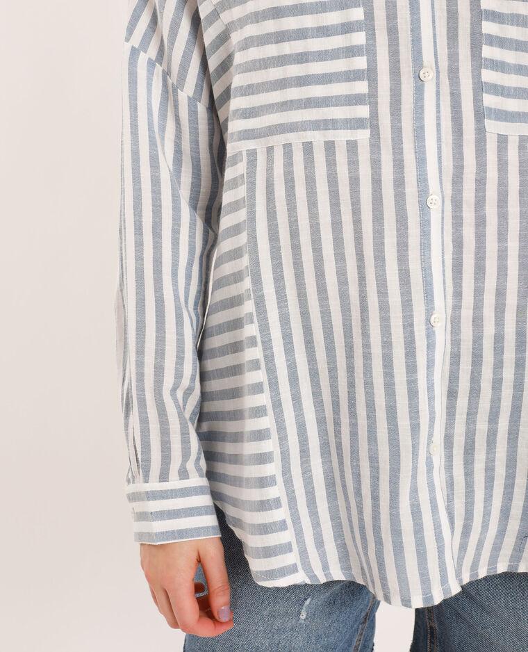 Camicia oversize a righe blu