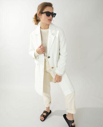 Cappotto di media lunghezza in cotone spesso beige - Pimkie