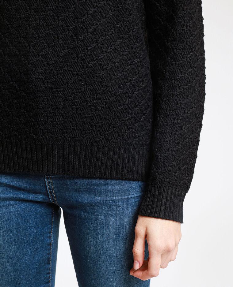 Pull in maglia fantasia nero