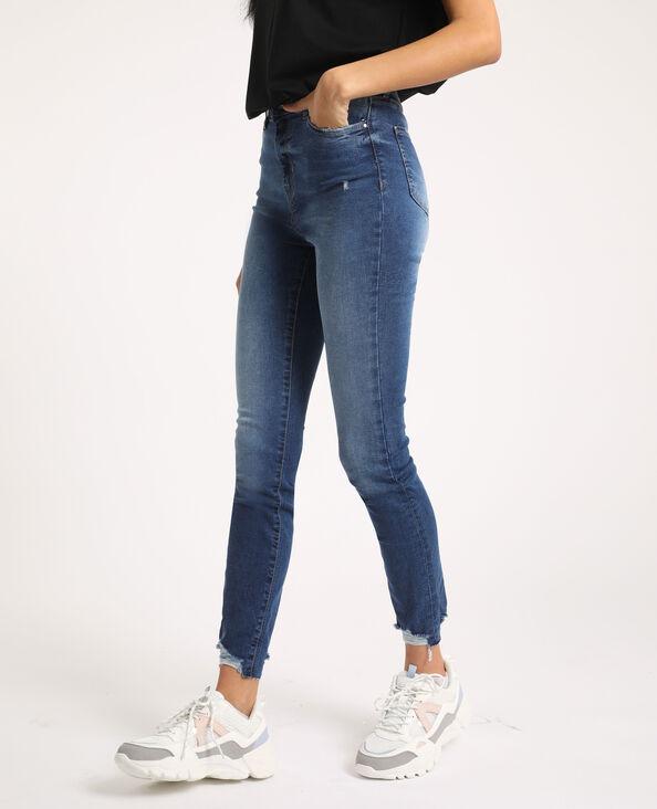 Jeans skinny high waist blu