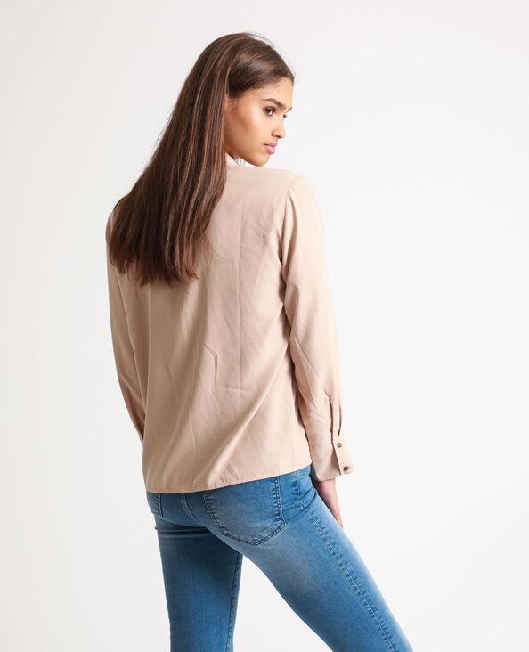 Camicia squadrata beige
