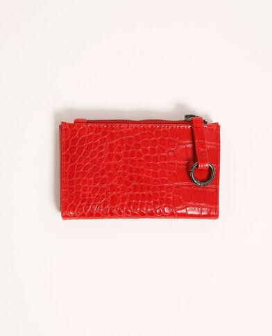 Mini portafoglio effetto coccodrillo rosso - Pimkie