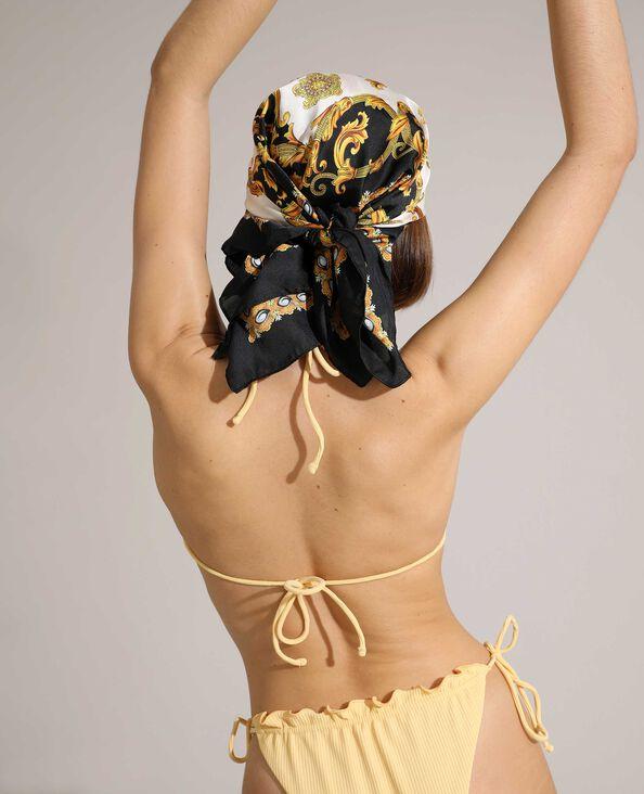 Pezzo sopra di costume da bagno a triangolo a coste regolabile giallo pallido - Pimkie