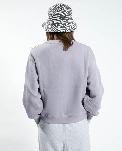 Felpa in cotone felpato viola - Pimkie