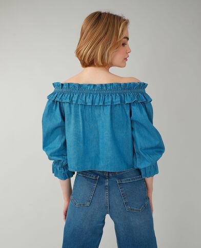 Top di jeans acquamarina - Pimkie