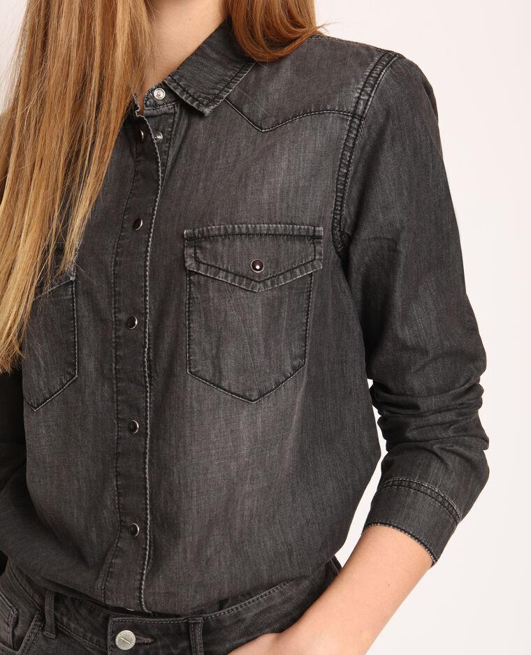 Camicia denim grigio