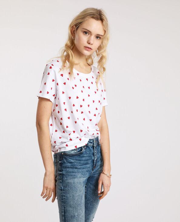 T-shirt grafica bianco