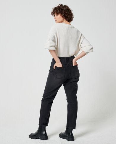 Jeans mom effetto used nero - Pimkie