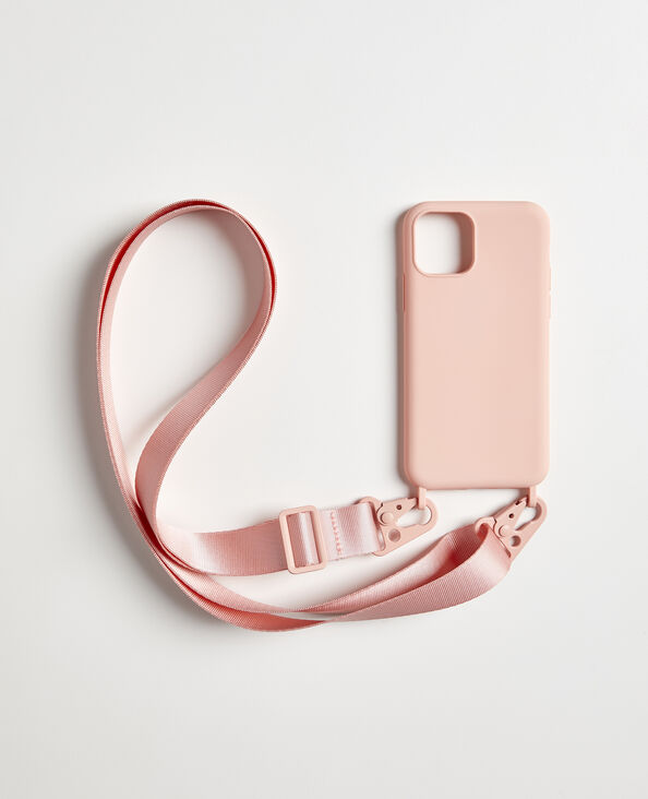 Custodia iPhone con tracolla rosa