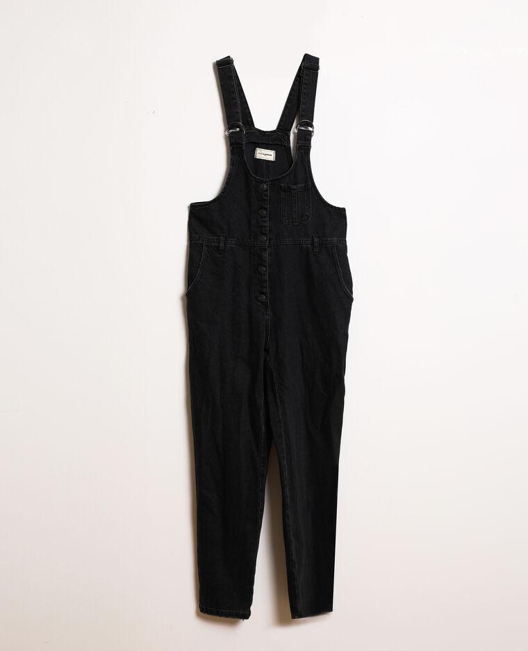 Salopette di jeans nero