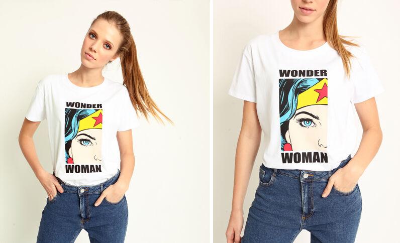 T-shirt Wonder Woman bianco