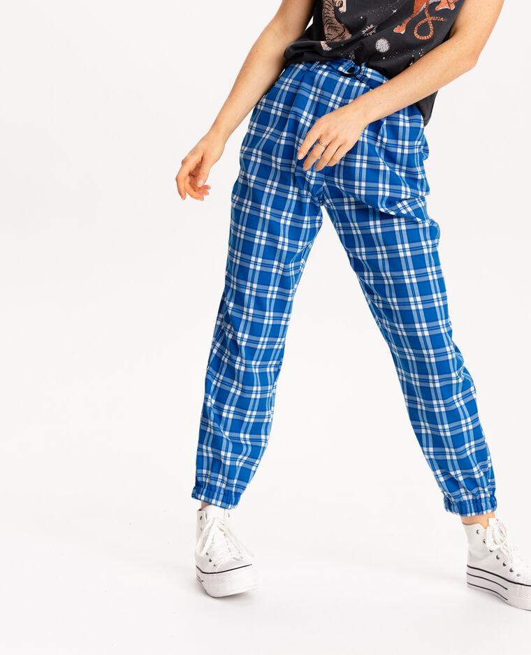 Pantalone stretto al fondo blu