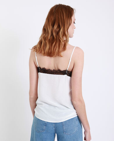 Top con pizzo bianco