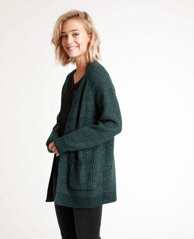 Cardigan di media lunghezza verde
