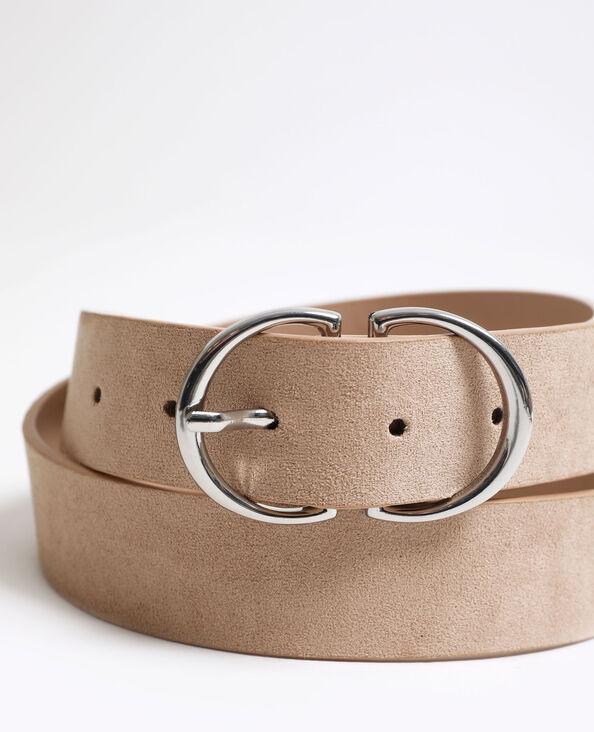 Cintura con doppia fibbia grigio