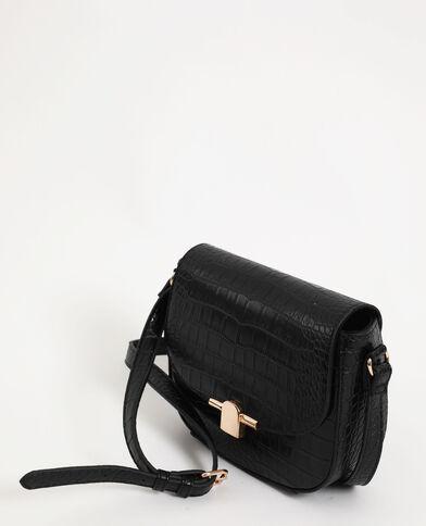 Piccola borsa coccodrillo nero