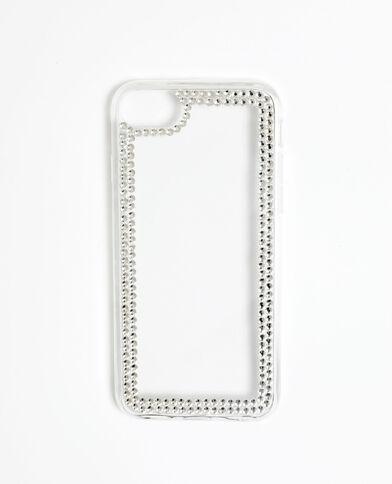 Custodia con strass per iPhone 6/6S/7/8 grigio